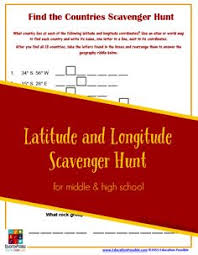 mapping activity teaching about coordinates longitude latitude