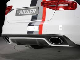 audi s4 exhaust rieger rs4 rs5 look exhaust for audi s4 s5 3 0t b8 5
