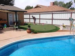 Building A Backyard Putting Green by Surround Your Pool With Artificial Turf Golf Greens Texas