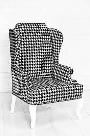 www roomservicestore com brixton wingchair black u0026white houndstooth