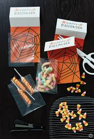 printable halloween treat bags just add candy think make share