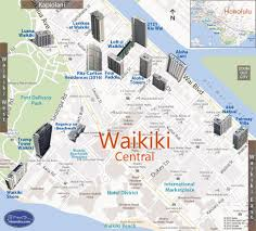 map of waikiki waikiki central condo map honolulu oahu hawaii