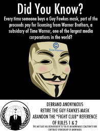 Guy Fawkes Mask Meme - community post time warner profits from anonymous time warner