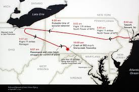 United International Route Map by United Airlines Flight 93 Wikipedia