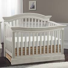 White Curtains For Nursery by Furniture Modern White Crib With Grey Paint Wall Also White