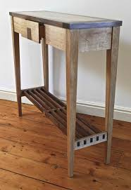 very small console table very narrow rustic diy wood console table with drawer and shelves