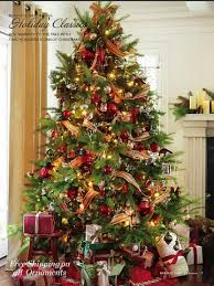 decorated tree garlands happy holidays