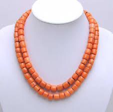 natural coral necklace images Genuine natural 2 strands thick slice pink coral necklace with big jpg