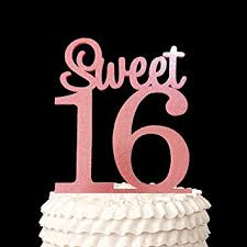 happy 16th birthday acrylic cake topper sweet 16