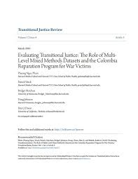evaluating transitional justice the role of multi level mixed