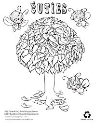 heather chavez fairy tree coloring page