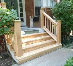 wood stair railing installation stairs woodwork delta c