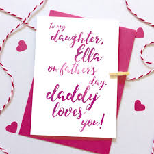 to my son daughter on father u0027s day calligraphy card ruby wren