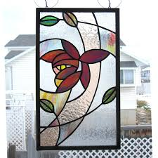 Flower Glass Design 4443 Best Stained Glass Trees And Flowers Landscapes Images On