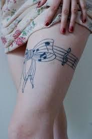 cool leg u0027s music note tattoo tattoomagz