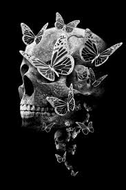 skull and butterflies sugar skulls butterflies