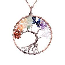 gemstone necklace pendant images Sedmart four seasons tree of life pendant wire wrapped jpg