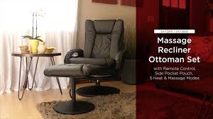 Recliner With Ottoman Sky2891 Sky2892 Massage Recliner With Ottoman Youtube