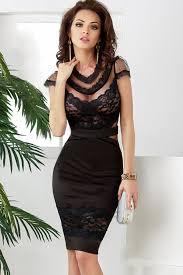 black mesh lace accent short sleeve bodycon dress party dresses