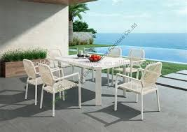 high table patio set high dining table 6 chair patio furniture sg2015