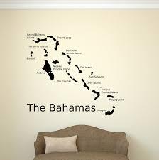 bahamas map bahamas wall decal bahama islands map map