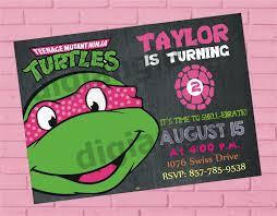 teenage mutant ninja turtle birthday invitation ninja