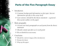 example of a   paragraph essay