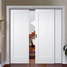 Shaker Style Exterior Doors by Easi Slide Op2 White Shaker Pattern 10 Style Panel Sliding Door