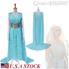 Game Thrones Halloween Costumes Daenerys Game Thrones Costume Ebay