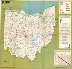 Highway Map Ohio Turnpike And Interstate Highway Map 1966 Notice How I U2026 Flickr
