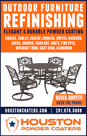 outdoor furniture powder coaters powder coating
