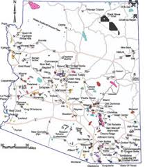 map of az azgs mineral resources mining in arizona