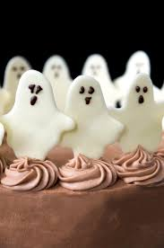 dancing ghosts chocolate coconut cake vintage kitty