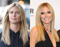 how to look beautiful without makeup a make up free heidi klum after lunch with the