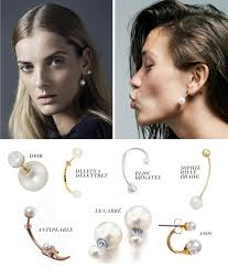 earrings trends trend report the pearl earring joyería 2014 otoño