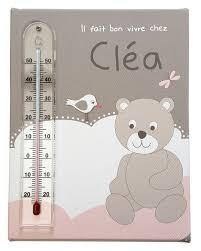 thermometre de chambre bébé cadre thermomètre avec nuages pour chambre bébé fille
