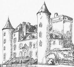 coloriage ã dessiner magique chateau fort