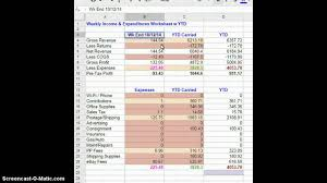 Tax Write Off Spreadsheet Ebay Tax Data Bookeeping Accounting System 3 Of 3 Simplified