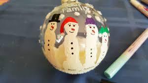 finger paint snowman family ornaments kinderart