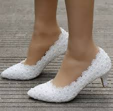 white lace wedding shoes small heel white lace wedding shoes 5cm high heels shoes white