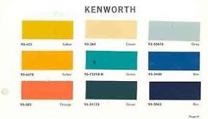 1965 kenworth truck paint color chips wf5116 7g3c4o ebay