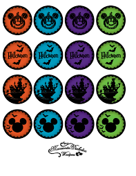 Mickey Mouse Toppers Para Cupcakes De Halloween Imprimibles