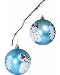 savings on handpainted 2 shatterproof ornament set