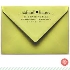 return address wedding invitations return address st wooden handle or self inking