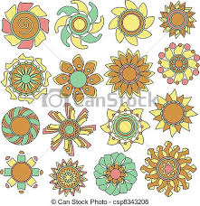 vector of colorful vector flower ornaments colorful modern