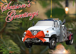 tow truck ornament