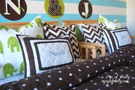 brown green aqua boys room a pop of pretty blog canadian home