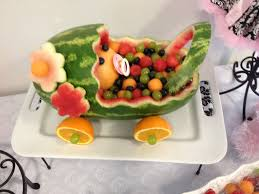 watermelon baby carriage baby shower ideas pinterest