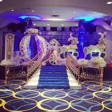 themed quinceanera cinderella themed venue decorations for a happily after
