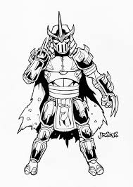 shredder ninja turtles coloring page